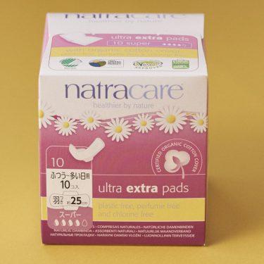 natracare ウルトラパッド スーパー 25cm[羽つき/ふつうの日〜多い日用]