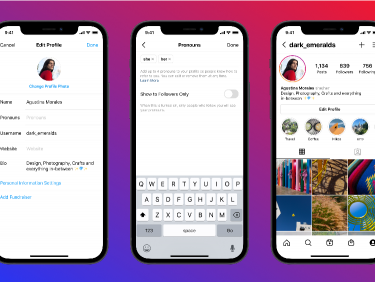 Instagramの新機能、プロフィール欄に「代名詞」。自身のアイデンティティに合わせて最大4つまで選択可能に